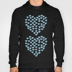 Hearts Heart x2 Light Blue Hoody