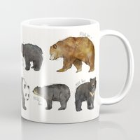 dwight schrute Mugs featuring Bears by Amy Hamilton