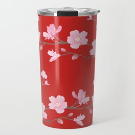Cherry Blossom - Red Travel Mug