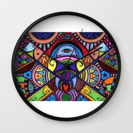 The war between the head and the heart Wall Clock