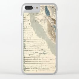 1854 Comparative Lengths of Rivers and Heights of Mountains Clear iPhone Case