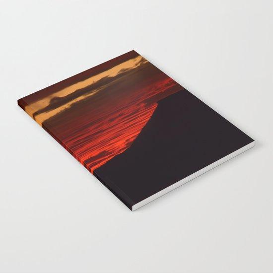 Red Hot Desert Sky Notebook