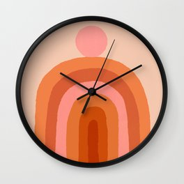 Abstraction_SUN_Rainbow_Minimalism_009 Wall Clock