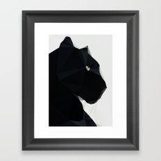Black Geo Cat 02 Framed Art Print