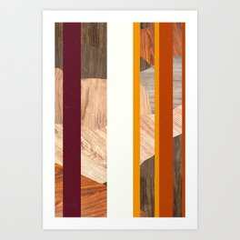 Striped Colors Art Print