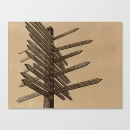 Chocolate Signpost Polaroid Canvas Print