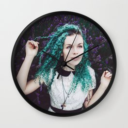 Lavender Fields Forever Wall Clock
