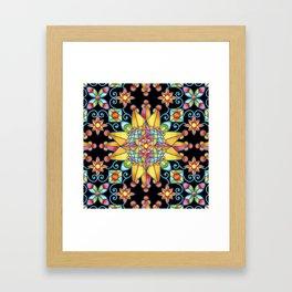 Sunshine Arabesque Framed Art Print