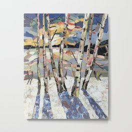 Birches in witnter Metal Print