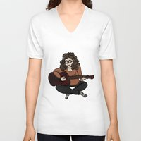 megan lara V-neck T-shirts featuring Lara by Ilse Busschers