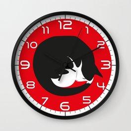 PURR time! CAT NAP Wall Clock
