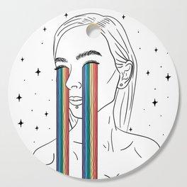 Rainbow tears Cutting Board