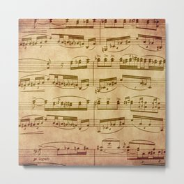 Vintage Sheet Music Metal Print