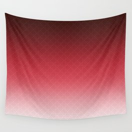 Red white textured Ombre Wall Tapestry