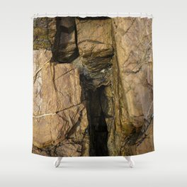Door into the Cliff Face Shower Curtain