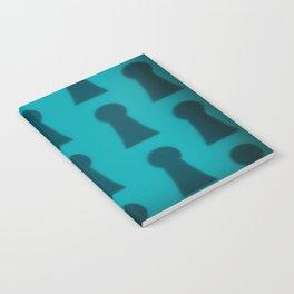 'Alice Blue - Keyhole Pattern' Wonderland styled design by Dark Decors Notebook