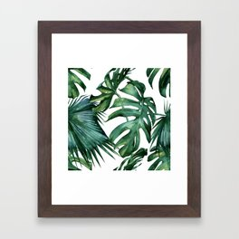 Simply Island Palm Leaves Framed Art Print