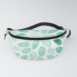 Watercolor brush strokes - aqua Fanny Pack