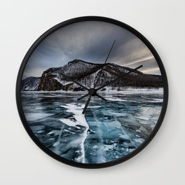 Olkhon Island 4k winter Lake Baikal ice Russia Wall Clock