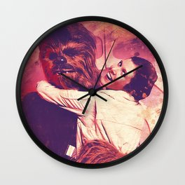 Princess Leia and Chewie Wall Clock