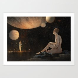 So much for gravity Art Print
