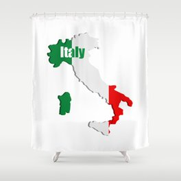 Italy map Shower Curtain