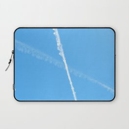 Contrails in the Blue Laptop Sleeve