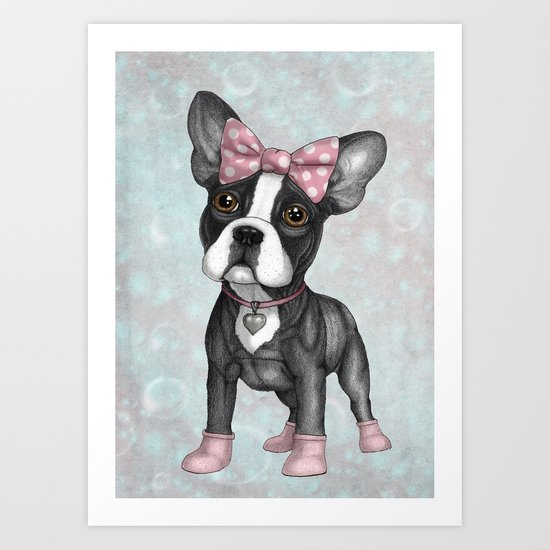 Sweet Frenchie Art Print