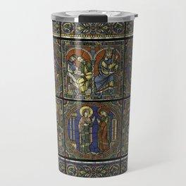 Stained Glass Feuille A Monografie de la Cathedrale de Chartres - Atlas - Vitrail de la vie de Jesus Travel Mug