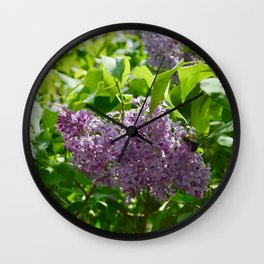Lilacs in Bloom Wall Clock