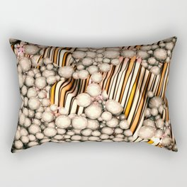 Large group of yellow abstract orbs or pearls or spheres Rectangular Pillow
