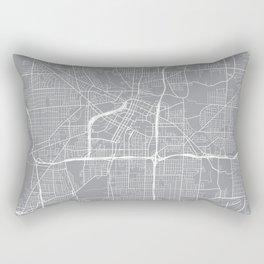 Akron Map, Ohio USA - Pewter Rectangular Pillow
