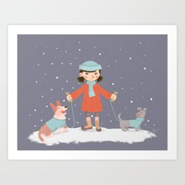Never Lose Your Dogs Art Print
