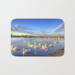Sunset Swans Bath Mat