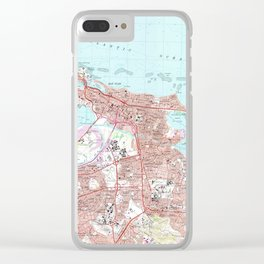 Vintage Map of San Juan Puerto Rico (1969) Clear iPhone Case