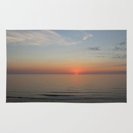 Ocean Sunrise First peek of the sun Rug