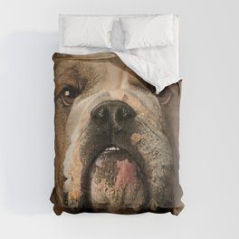 Mens Womens Cute Bulldog Face 3D Gift - Lover Bulldog Dog Graphic Comforters