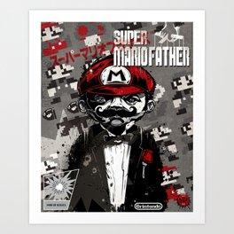 Super Mario Father Art Print