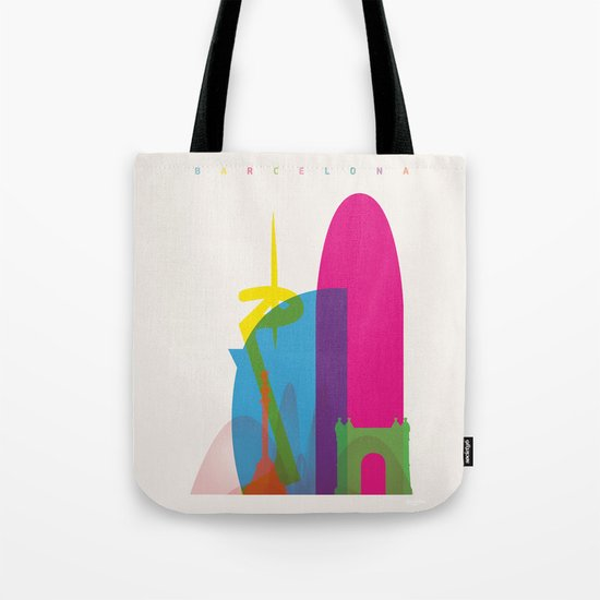 Shapes of Barcelona. Accurate to scale Tote Bag