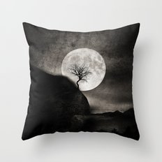 The Moon and the Tree.. Throw Pillow