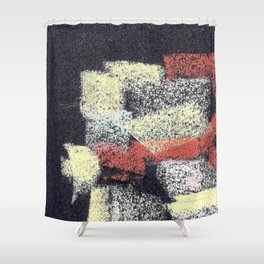 Multicolor abstract black Shower Curtain