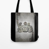 crowley Tote Bags featuring [ Supernatural ] Castiel Dean Sam Winchester Crowley Hannah by Vyles