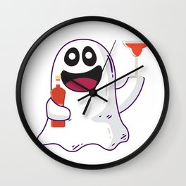 I'm Just here for the Boos Liqour Drinking Ghost Wall Clock