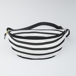 Simply Drawn Stripes in Midnight Black Fanny Pack