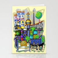 vienna Stationery Cards featuring Vienna  by Aleksandra Jevtovic