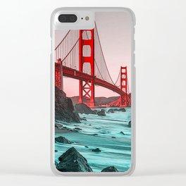 Golden Gate Bridge - Panorama Clear iPhone Case