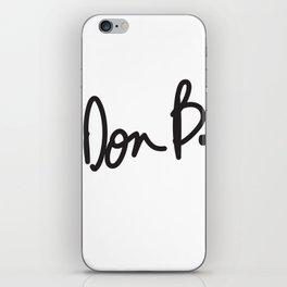 Don B. iPhone Skin