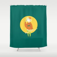 sushi Shower Curtains featuring Sushi by Patricia Santos