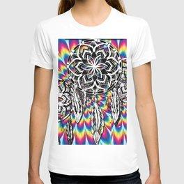 psychedelic paint dream catcher T-shirt