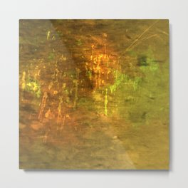 Yellow Tantalizing Abstract Handcrafted designs Metal Print